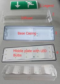 Professional Customized LED Battery Backup Emergency Lights For Power Failure