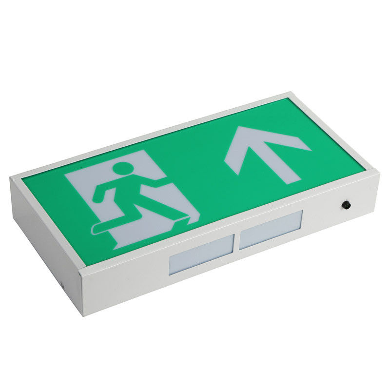 Professional LED Exit Signs Battery Backup With 60 Pcs 3014 SMD LED , Green Color